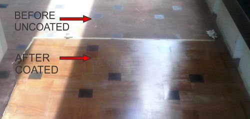 sandstone floor coating before and after