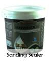 Biocolours sanding sealer untuk finishing kayu rustic black wash