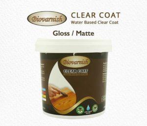 Biovarnish clear coat dalam apliksi varnish teknik kuas