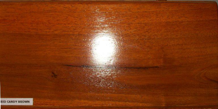 cara finishing kayu warna candy brown