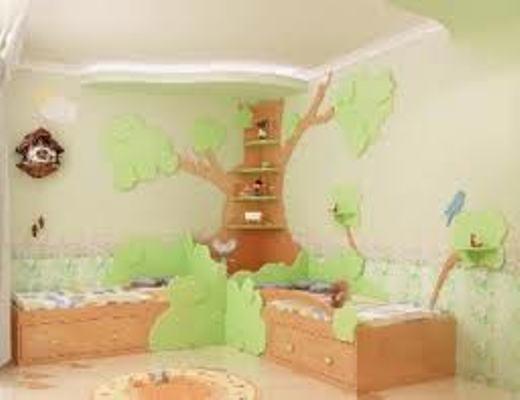 kamar anak unik dari kayu'