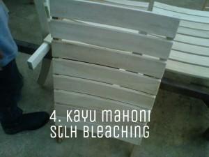 hasil warna kayu mahoni putih bersih setelah dibleaching